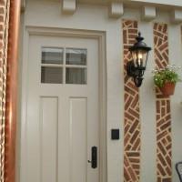 Two Panel Sapele Door - Rumson, NJ